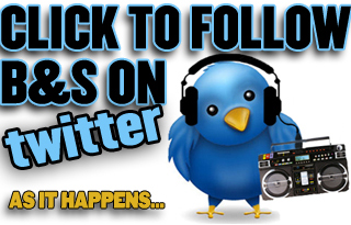 Click to follow B&S on twitter - music news and views as it happens...