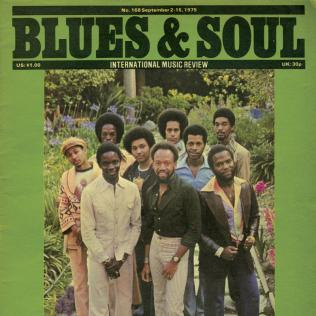 Earth Wind & Fire / Front cover of B&S Issue 168 (Sept 1975)
