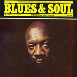 Isaac Hayes on the front cover of Blues and Soul