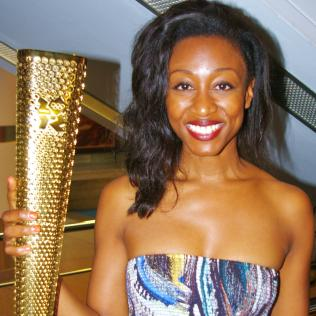 Knight Light: Beverley Knight and her Olympic torch - EXCLUSIVE PHOTO