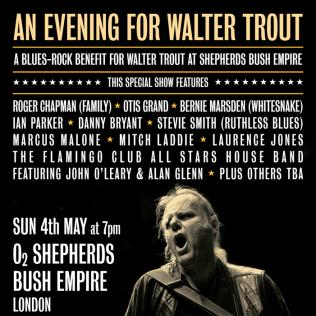 Walter Trout benefit gig poster