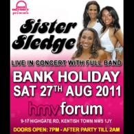 Click for Sister Sledge, Gwen Dickey, Kenny Thomas and Jaki Graham @Forum - April 23